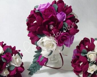 Bridal bouquet,paper flower bouquet,wedding bouquet,bridesmaid bouquet,paper flower,flower paper,bridal flower, magnolia paper flower,