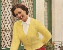 Knitting Pattern Lady's Angora Cardigan Stitchcraft 1940s PDF Instant Download