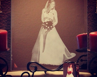 Bridal Portrait Mirror Artwork