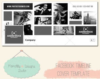INSTANT DOWNLOAD - Profesionnal Facebook Timeline Cover Template for Business Page -  Photoshop 2
