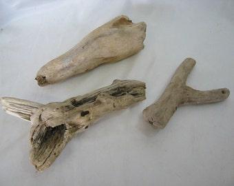 Driftwood Pieces - Decorative Bulk Driftwood Collection - 3 Pieces - Craft Supplies