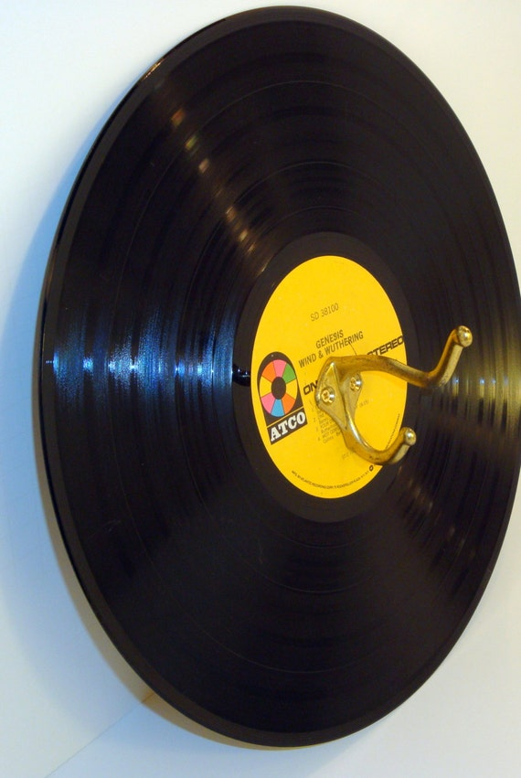 Vinyl record album single wall hook display for Vinyl records decorations for wall
