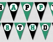 Soccer Birthday Bunting - Soccer Themed Party Decoration - INSTANT DOWNLOAD