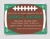 Football Birthday Invitation - Football Themed Birthday Party - Digital Design or Printed Invitations - FREE SHIPPING