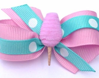 Cotton Candy Hair Bow, Dog hair bow, dog hair bows, dog bows, headband, hair clip, ponytail, pigtails