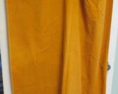 Vintage Cotton Corduroy 36 inch Sewing Fabric Cheddar Gold HALF YARD Velveteen