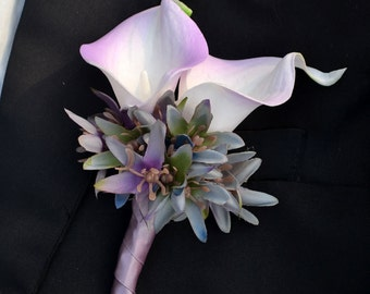 wedding boutonniere PU real touch artificial flower calla