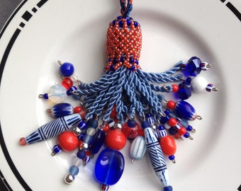 Beaded Tassel - School Colors!