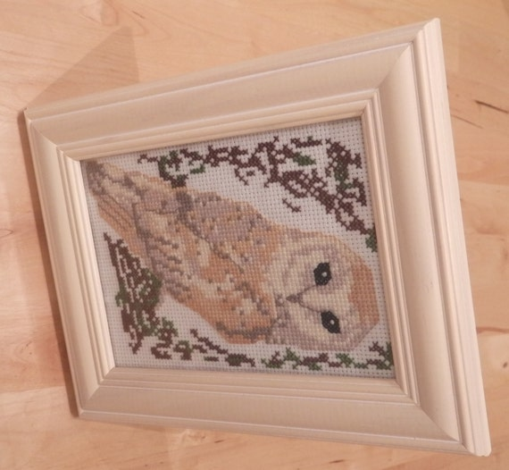 Barn Owl Cross Stitch Pattern: Birds Series