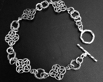 Sterling Silver Celtic Bracelet, Celtic Bracelet, Silver  bracelet
