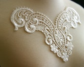 Tresors   Ivory Lace Applique, Lace Applique, Custom Design, Couture Design, Dressmaking, Lace Jewelry, Crafting, etc, AP-047