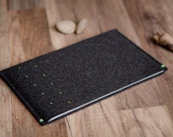 Sony Xperia Tablet Z4, Z2, Z case / sleeve, dotted anthracite felt