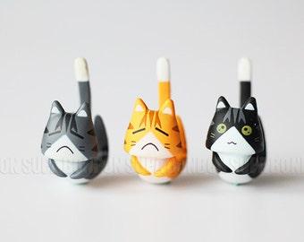 2 pcs / Plastic / Cell Phone Jack / Earphone Dust Plug / Dustproof Plug / Black Cat / Kitten / 3cm / CN652