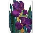 IRIS FLOWERS - Spring Floral Card - Design by Linda Henry - Also available as a Print with a Free Mat or as an Art Block (CFLO201403)