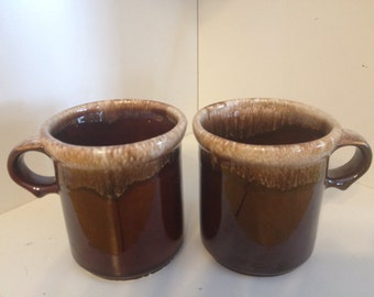 1412 McCoy USA Brown Drip Mugs