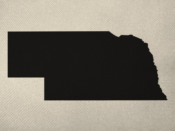 State Of Nebraska Style Silhouette Graphic By