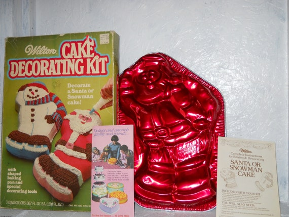 Etsy Christmas Cake Decorations : Items similar to VINTAGE Santa or Snowman Cake. Wilton ...