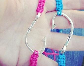Fish Hook adjustable Bracelet