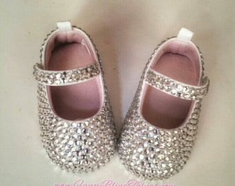 Crystal TOP ONLY Bling baby shoes