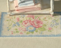 SHABBY- Dollhouse   rug. 1:12 Dollhouse miniature rugs. 13 X 7cms