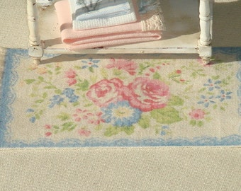 SHABBY- Dollhouse   rug. 1:12 Dollhouse miniature rugs. 13 X 7cms