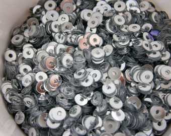 Platinum Sequins .125 - Nail Glitter - Solvent Resistant Glitter- Nail Art Glitter- SAMPLE to 2 oz
