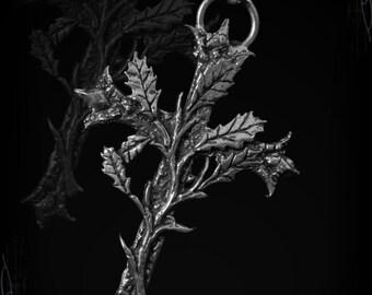 Handmade Decrepit gothic cross with oak leaves, Decrepitian Usirus