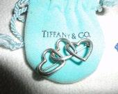 Tiffany & Co Sterling Silver Vintage Triple Heart  Brooch Pin