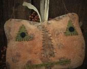 Primitive Pumpkin Ornament, Primitive Doll, Primitive Pumpkin Doll, Primitive Pumpkin, OFG, HAAP, HAFAIR