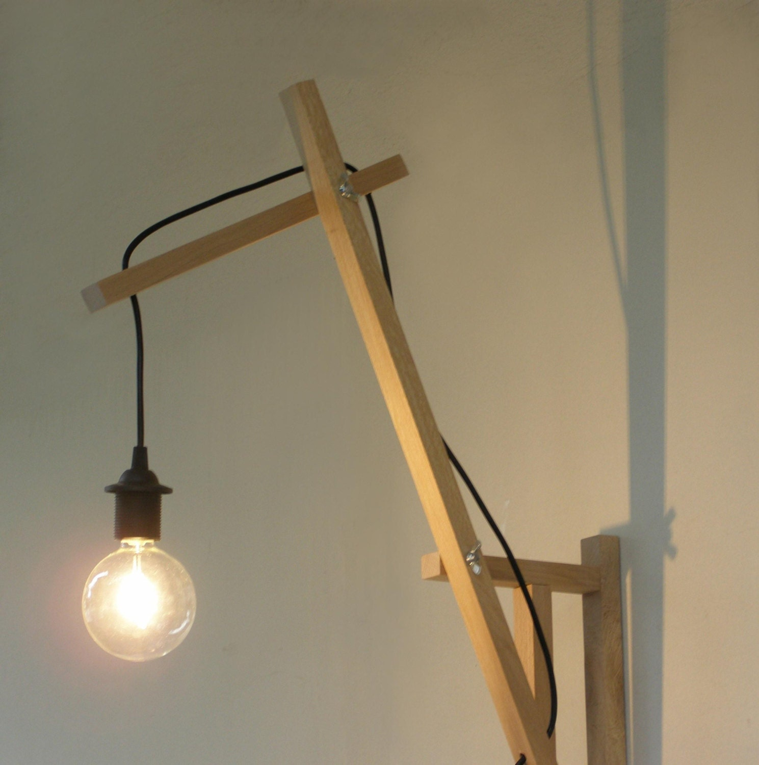 Wall Lamps Wooden : minimal wall lamp wall sconce