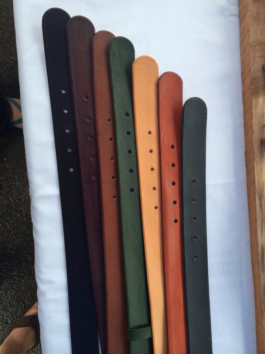 custom leather belt you choose your size color