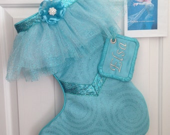 "Disney's ""Elsa"" Stocking from the movie Frozen"