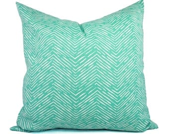 Two Indoor Outdoor Pillow Covers - Outdoor Pillow - Aqua Pillow - Teal Pillow Covers - Patio Pillow - Couch Pillow Accent Pillow