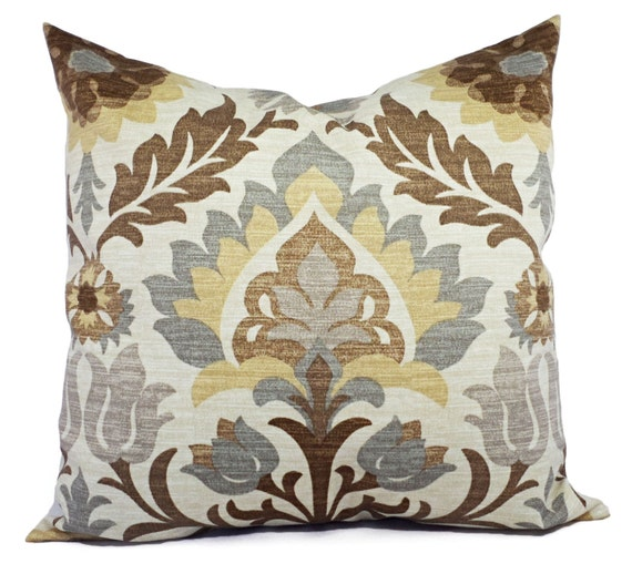 two outdoor pillow covers 16 x 16 inch brown outdoor. Black Bedroom Furniture Sets. Home Design Ideas