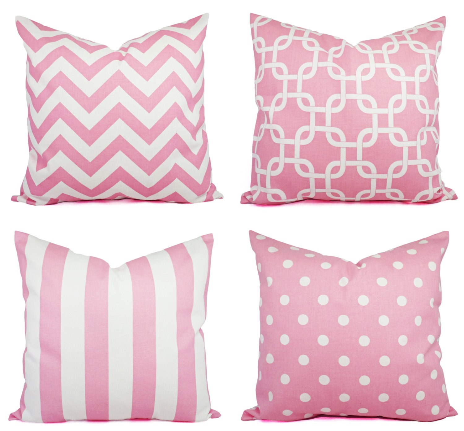 Pink Throw Pillows For Couch : Baby Pink Throw Pillow Covers Pink by CastawayCoveDecor on Etsy