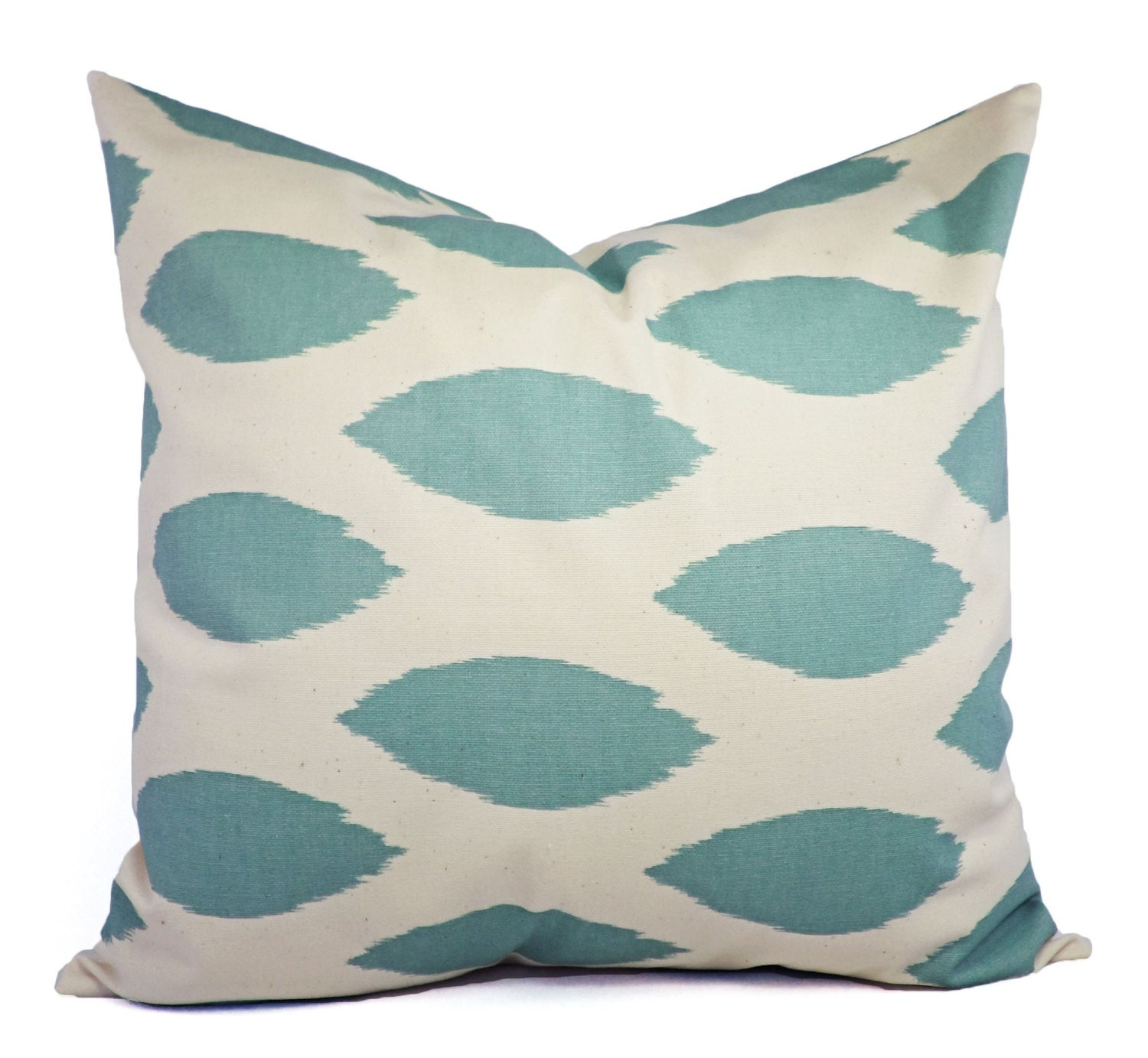 Spa Blue Throw Pillow Cover : Blue Pillow Cover Two Spa Blue Decorative Pillow Covers