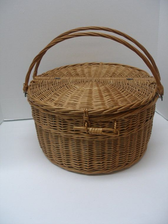 Picnic Basket Pie : Sale round pie picnic basket with double handles carry your