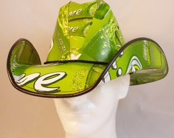 Beer Box Cowboy Hats. Made from recycled Bud Light Lime beer boxes.  Beerhat.