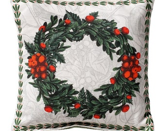 Red Berry Wreath Sachet with Maine Balsam or Lavender Fill