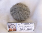 1 oz. Alpaca Light Silver Grey 100% Natural Carded Roving For Spinning, Nuno Felting or Needle Felting