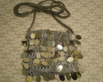 Victorian or Vintage Style Purse Smoky Gray