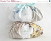 ON SALE Drawstring Shoes Bag - Floral Travel Pouch, ready to ship