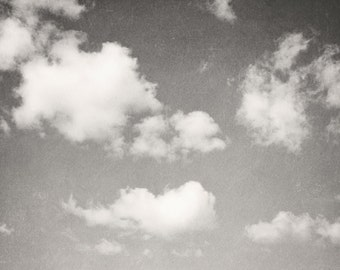 Black and White Clouds in the Sky - Fine Art Photography-  Clouds, Nature Sky, Dreamy Wall Decor
