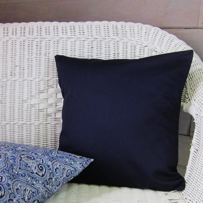 Decorative Pillows Indigo : Dark Navy Blue Throw Pillow Cover Indigo Solid Decorative
