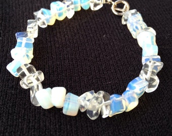 Ice snow Opalite chips bracelet for small wrist