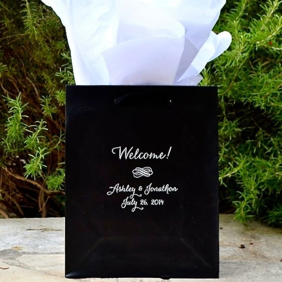wedding hotel welcome bags custom printed out of town guest bags