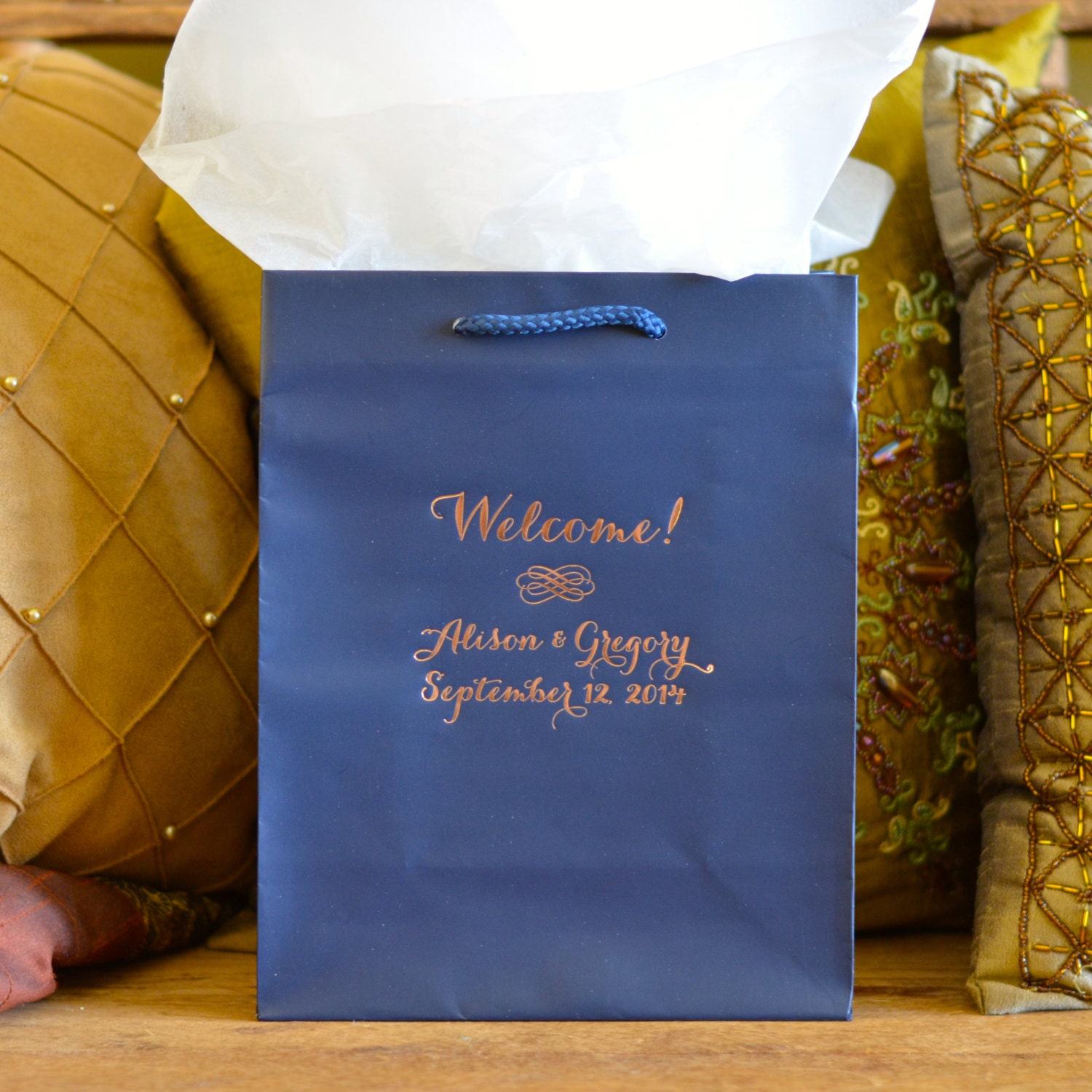 personalized hotel wedding welcome bags for out of town guests