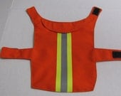 SALE - XSmall Lightweight Reflective Bright Orange Dog Jacket with Collar