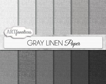 "Gray linen digital papers ""GRAY LINEN"" texture paper for scrapbooking, invitations, cards,websites,background, websites, home décor and more"