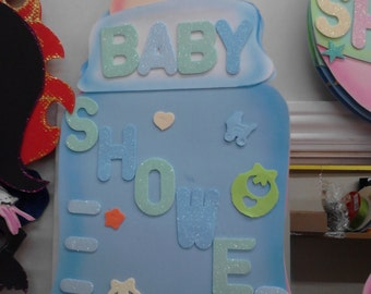 Baby shower foamy decorations
